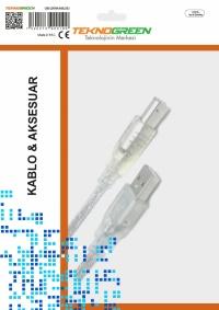 TeknoGreen TKU-2003 3m. Usb Yazıcı Kablosu