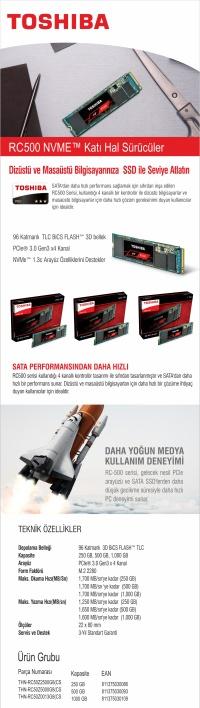 TOSHIBA OCZ RC500 250GB 1700/1250 PCIe NVMe M.2 SSD
