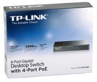 TP-LINK 4-Port PoE'li 8-Port Gigabit Masaüstü Switch TL-SG1008P