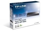TP-LINK 4-Port PoE'li 8-Portlu 10/100Mbps Masaüstü Switch TL-SF1008P