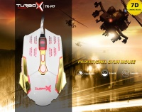 TURBOX TR-X7 3200DPİ GRİ/SYH 7D GAMİNG MOUSE OYUNCU MOUSE