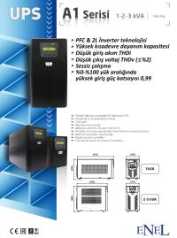 UPS-ENEL A1 1KVA 2X7AH AKÜ 4-8 DK ONLİNE UPS