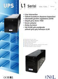 ENEL L1 1250VA 2X7AH AKÜ LİNE İNTERACTİVE UPS