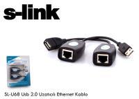 UZATMA-USB-S-LINK SL-U68 Usb 2.0 Extension Uzatıcı Adaptör  150mt
