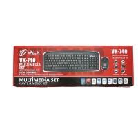 Valx VK-740 Kablolu Multimedia Klavye Mouse Set