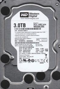 WD  3TB WD30EZRX INTELIPOWER 64MB SATA3 6Gbit/sn  RECERTIFIED HDD