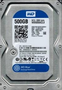 WD WD5000AZLX Blue 3.5 SATA 6 Gb/s 500GB 7200rpm 32MB Harddisk