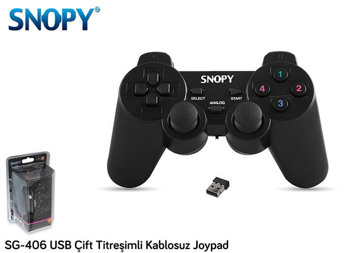 SNOPY SG-406 Usb Joypad Çift Titreşimli Kablosuz Kol