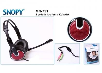 SNOPY SN-791 Bordo Mikrofonlu Kulaküstü Kulaklık