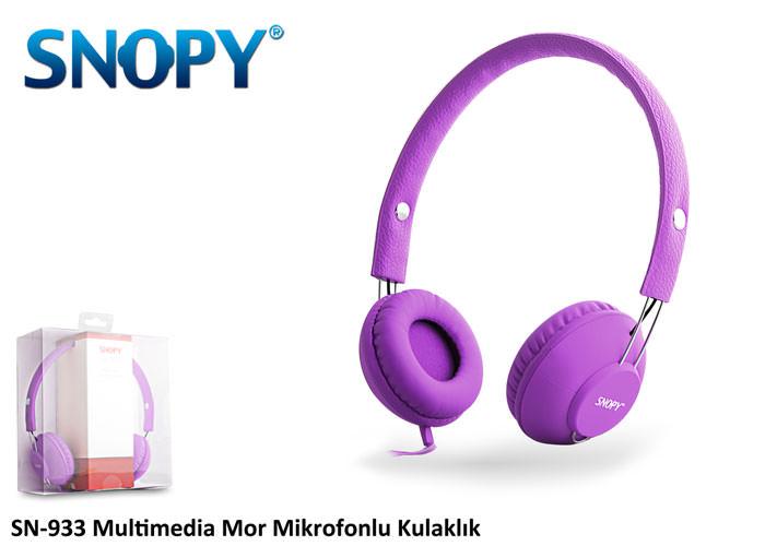 Snopy Sn-933 Mobil Telefon Uyumlu Rubber Kırmızı Mikrofonlu