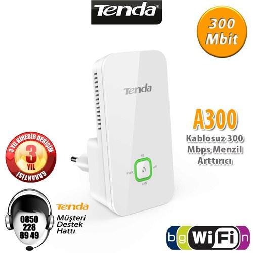 TENDA A300 WiFi-N 300Mbps Menzil ArttırıcI