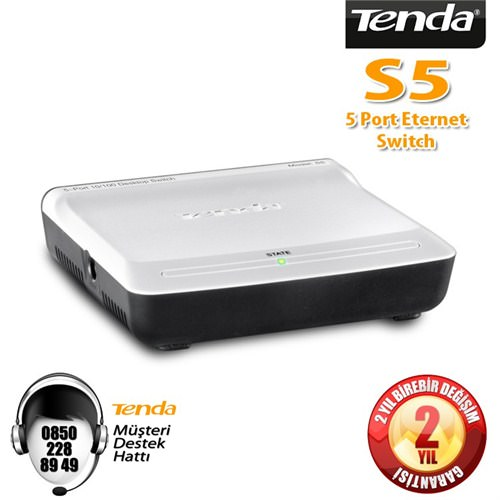 TENDA S105 V2 5 PORT 10/100 SWITCH