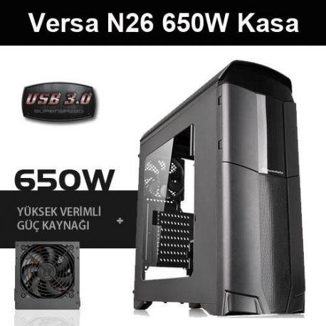 THERMALTAKE VERSA N26 650W USB3.0 PENCERELİ MidT ATX SİYAH KASA