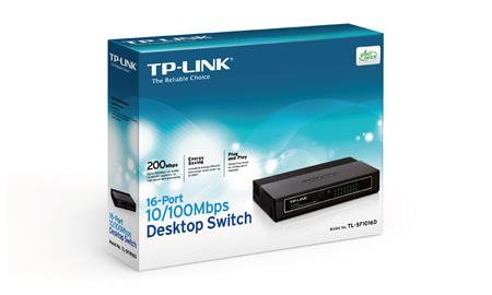 TP-LINK 16-Portlu 10/100Mbps Masaüstü Switch TL-SF1016D