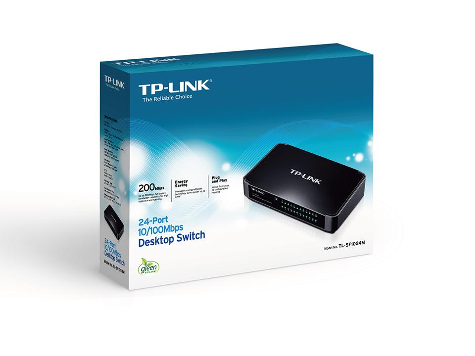 TP-LINK 24 Port 10/100Mbps Masaüstü Switch TL-SF1024M