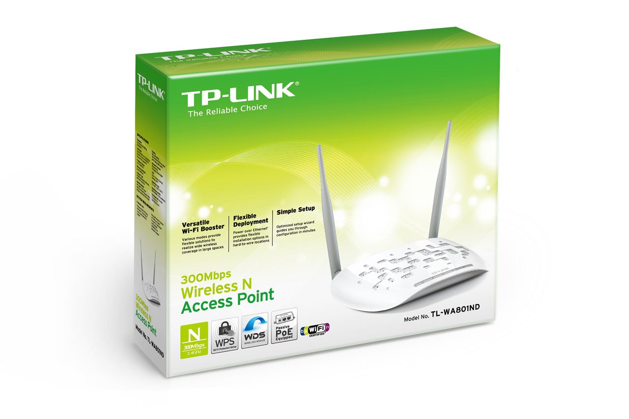 TP-LINK 300Mbps Kablosuz N Access Point TL-WA801ND -