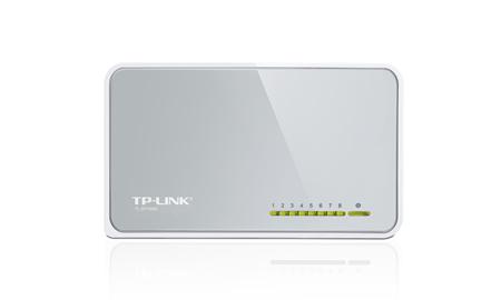 TP-LINK  TL-SF1008D 8-Portlu 10/100Mbps Masaüstü Switch