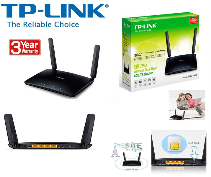 TP-LINK Archer MR200, (2.4GHz 300Mbps, 5GHz 433Mbps) AC750