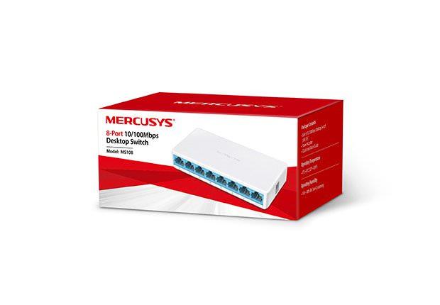 TP-LİNK Mercusys 8-Port 10/100Mbps Tak Ve Kullan Switch Ms108