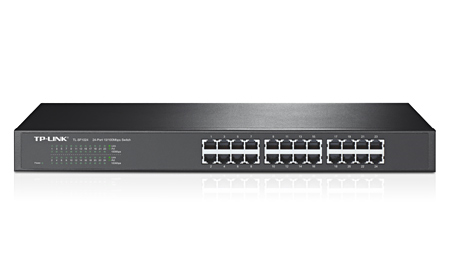 TP-LINK TL-SF1024D 24 Port Rack-Mountable Metal Kasa Switch