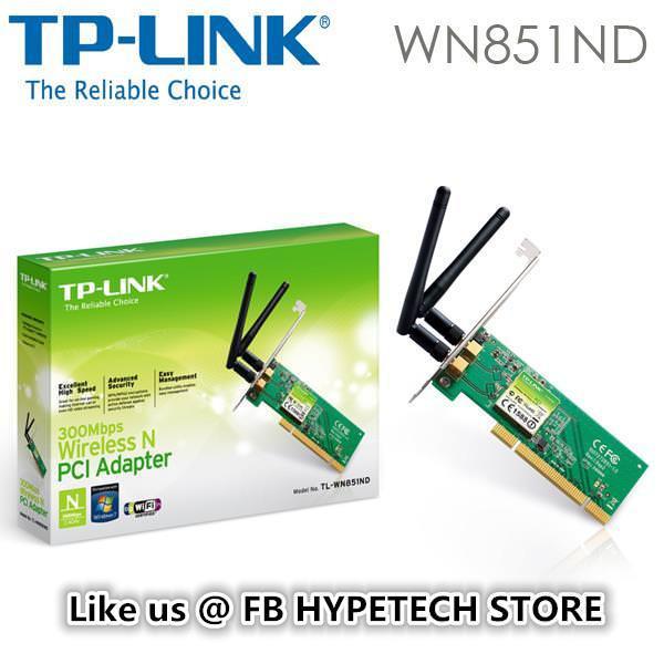 TP-LINK TL-WN851ND 300Mbps,2 ANT.PCI KABLOSUZ