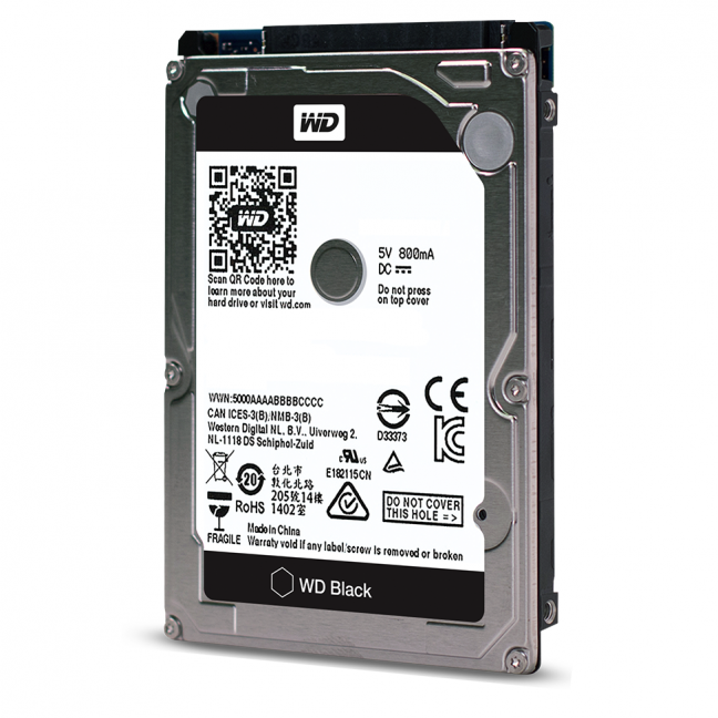 "WD 2.5"" 750GB Scorpio Black Sata 3.0 7200Rpm 16MB Cache Notebook Disk(WD7500BPKX)"