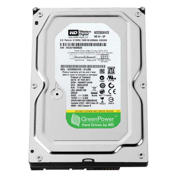 WD 3.5 250GB 7200RPM 16MB SATA WD2500AVCS
