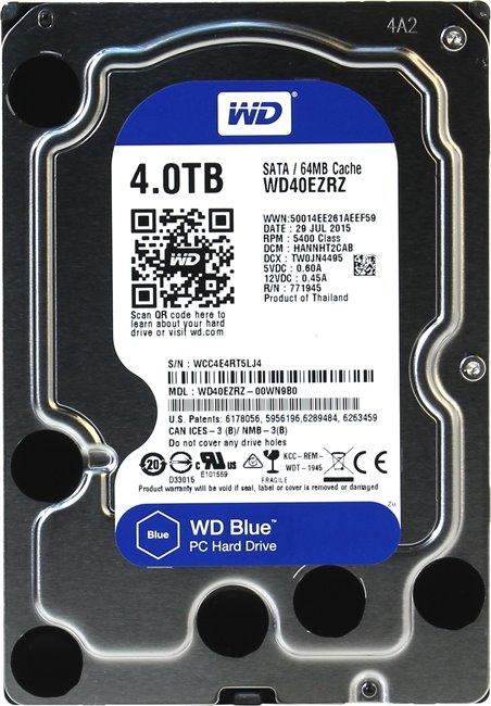 WD Blue 3.5 4TB 5400Rpm 64MB Sata 3 WD40EZRZ