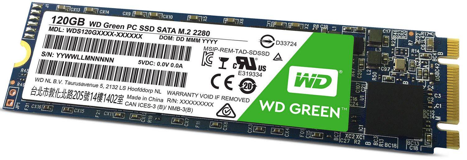 WD GREEN 120GB SSD M.2 SATA 540/430 WDS120G1G0B