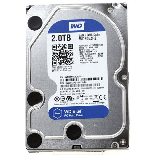 WD WD20EZRZ 2TB 3.5inc Sabit Disk - 5400 Rpm Blue Sata3 6Gbit/s 64Mb Cache